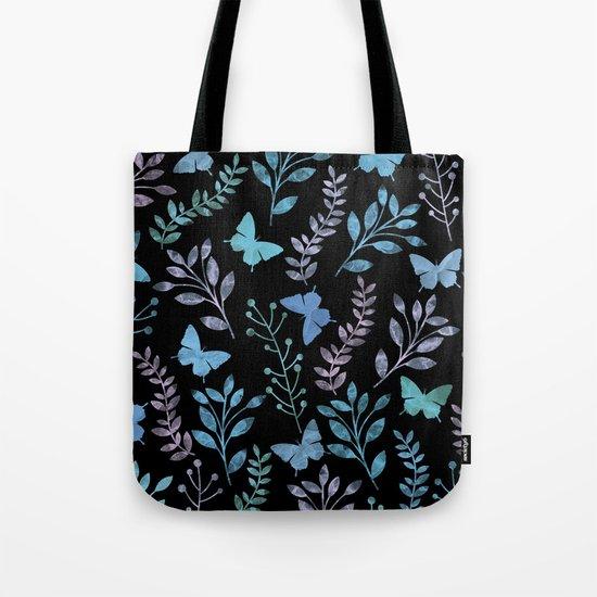 Watercolor flowers & butterflies II Tote Bag