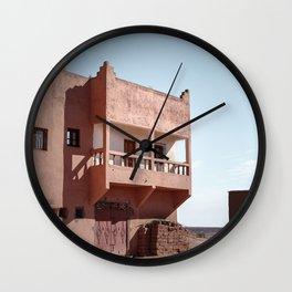 House Front Door in Moroccan Village  Wall Clock