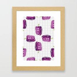 purple bell pepper Framed Art Print
