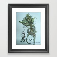 kala with guard Framed Art Print