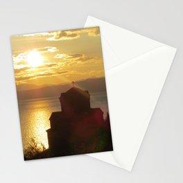 Sveti Jovan Kaneo at Sunset Stationery Cards