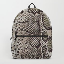Faux Boa Constrictor Snake Skin Design Backpack