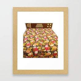 Handmade Tropical / Fruit Print Kantha Bedcover Framed Art Print