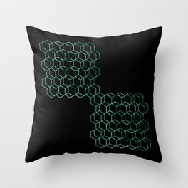 Green Connection Throw Pillow