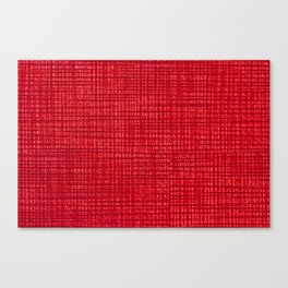 Red fibrous cloth texture abstract Canvas Print