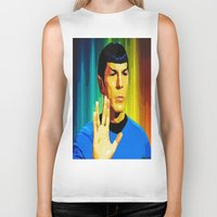 spock Biker Tanks featuring Spock by The Art Of Gem Starr
