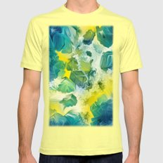 Mineral Series - Andradite Mens Fitted Tee Lemon SMALL