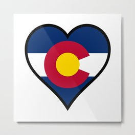 Love Colorado Metal Print
