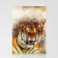 fierce Stationery Cards featuring Fierce by Robin Curtiss