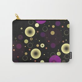 Circles with black Carry-All Pouch