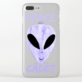 Purple Space Cadet Clear iPhone Case
