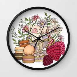 sweet pig Wall Clock