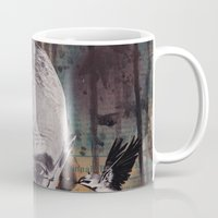 philosophy Mugs featuring The Philosophy of Composition by Collage Calamity