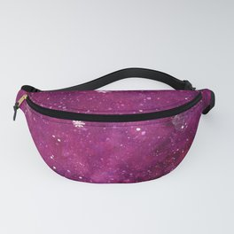 Watercolor galaxy - pink and purple Fanny Pack