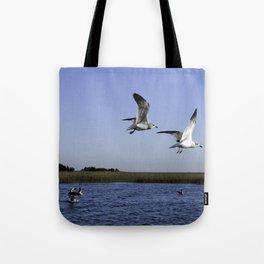 Sneakky Seagulls Tote Bag