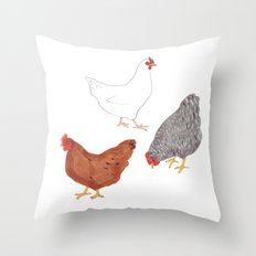 Chickens Throw Pillow