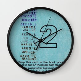 Ilium Public Library Card No. 2 Wall Clock