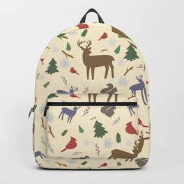 Winter Forest Animals Backpack