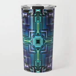 Sci Fi Metallic Shell Travel Mug
