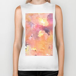 Abstract Watercolor Colorful Painting Biker Tank