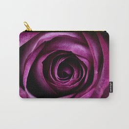 Purple Pink Rose Bloom Carry-All Pouch