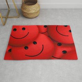Red Smileys Rug
