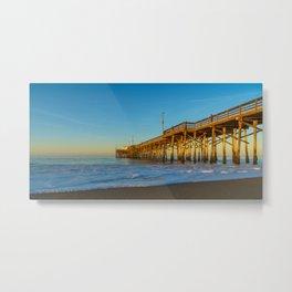 Morning Light at Balboa Pier Metal Print
