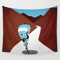 cycling Wall Tapestries featuring Cycling by Osvaldo Casanova