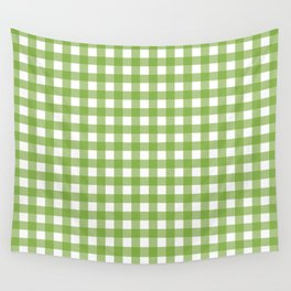 Green plaid Wall Tapestry