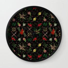 Swallows in a Spanish Rose Garden Wall Clock