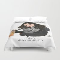 phil jones Duvet Covers featuring Jessica Jones by daniellepioli