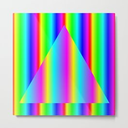 Two Rainbow Gradients One Triangle Metal Print