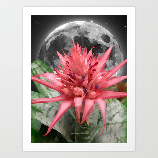 MOON - FLOWER 009 Art Print