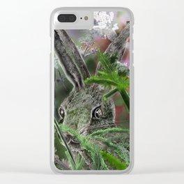 Sylvilagus floridanus- cottontale rabbit Clear iPhone Case