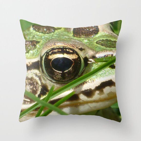 Northern Leopard Frog Throw Pillow