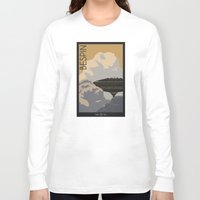 travel poster Long Sleeve T-shirts featuring Bespin Travel Poster by Tawd86