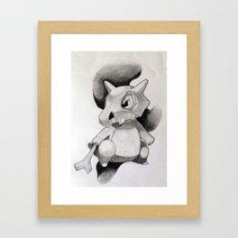 Pokémon Cubone Print  Framed Art Print