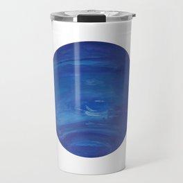 Neptune Gouache Watercolor Painting Travel Mug