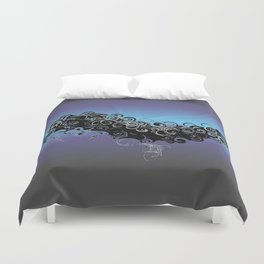 Cthulu's Flight  Duvet Cover