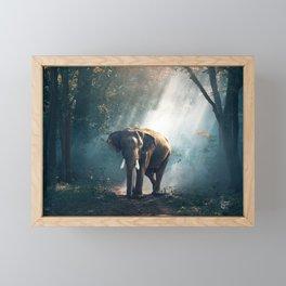Sunlight Elephant Framed Mini Art Print