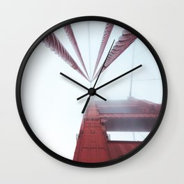 Golden Gate Bridge fogged up - San Francisco, CA Wall Clock