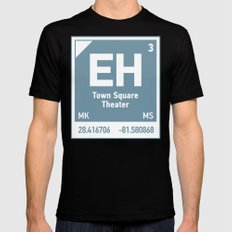 Town Square Theater element Mens Fitted Tee MEDIUM Black