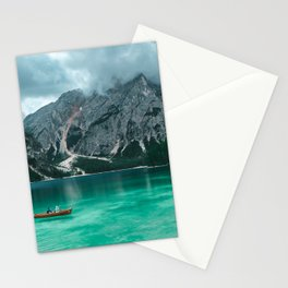 2 PERSON ON BOAT AT LAKE DURING DAYTIME Stationery Cards