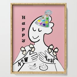 ASL Happy New Year Serving Tray