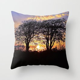Summer Nights | Musical Crime Productions | Unique Photography of Nature Throw Pillow
