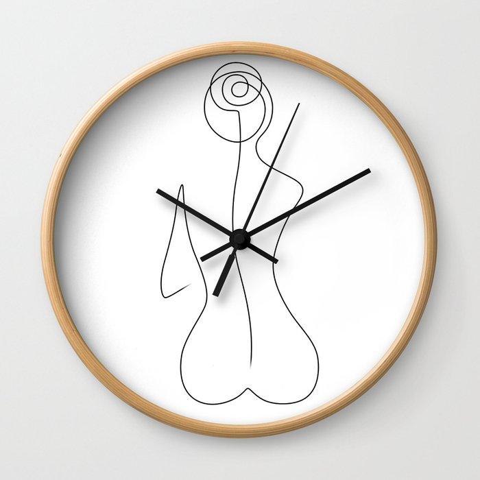Sitting Beauty Wall Clock