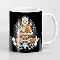 spiritual Mugs featuring Spiritual Retreat by adho1982