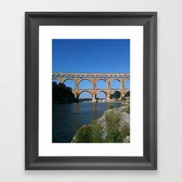 Roman Aqueduct - Provence France Framed Art Print