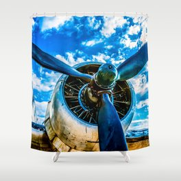 Aviation forever Shower Curtain