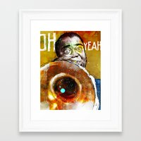 louis armstrong Framed Art Prints featuring Louis Armstrong by Ed Pires
